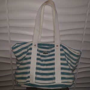 Lacoste Terry Cloth Beach Bag Tote
